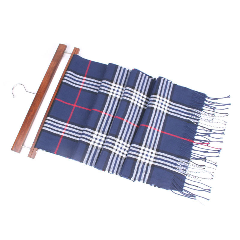 2018 Autumn & Winter Plaid Scarf Korean-style Tassels Long Faux Cashmere Men And Women Warm Shawl Versatile Scarf 63 Color