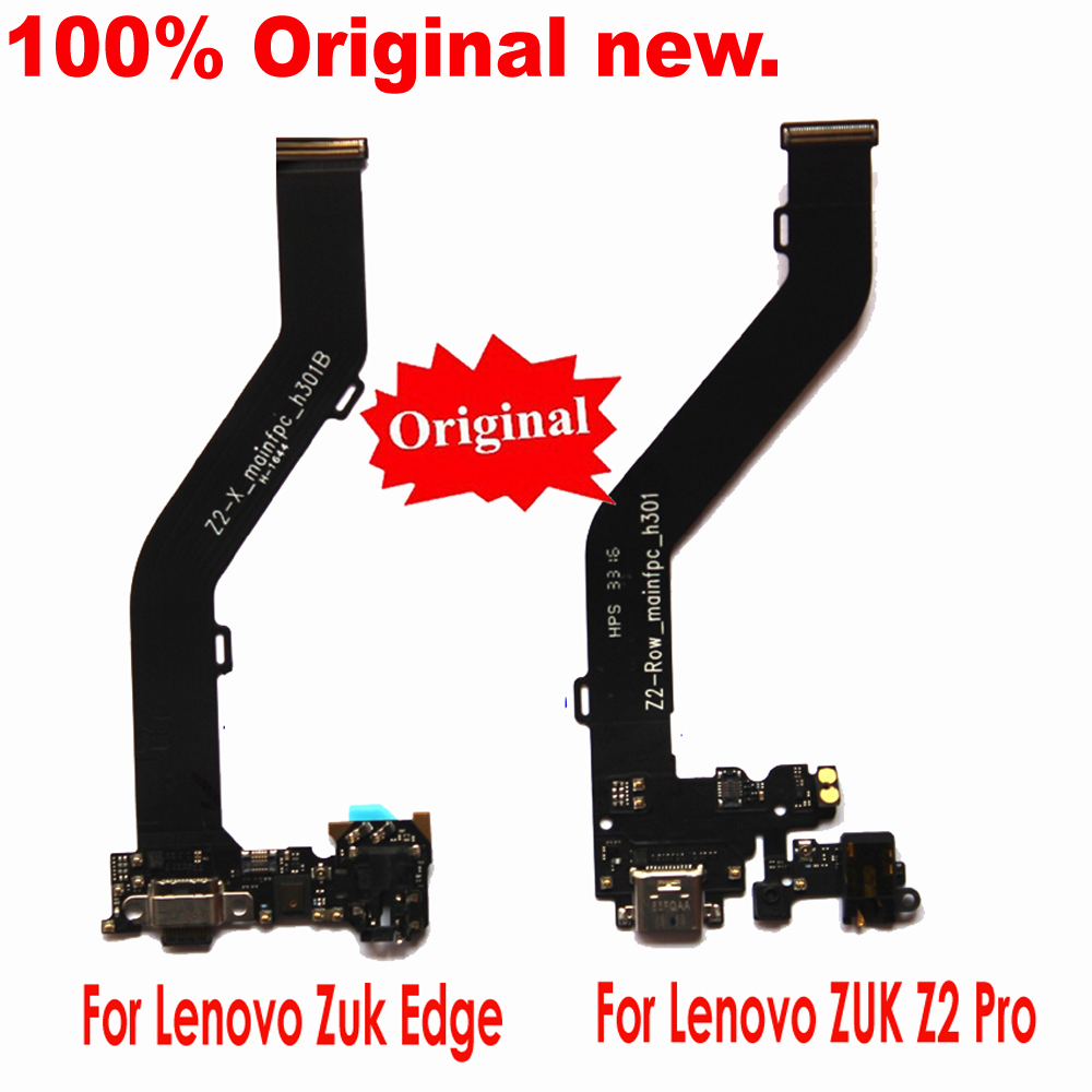 Original For Lenovo Zuk Edge / ZUK  Z2 Pro USB Charging Port Charger Flex Cable Dock Connector Micro Headphone Jack Module Board