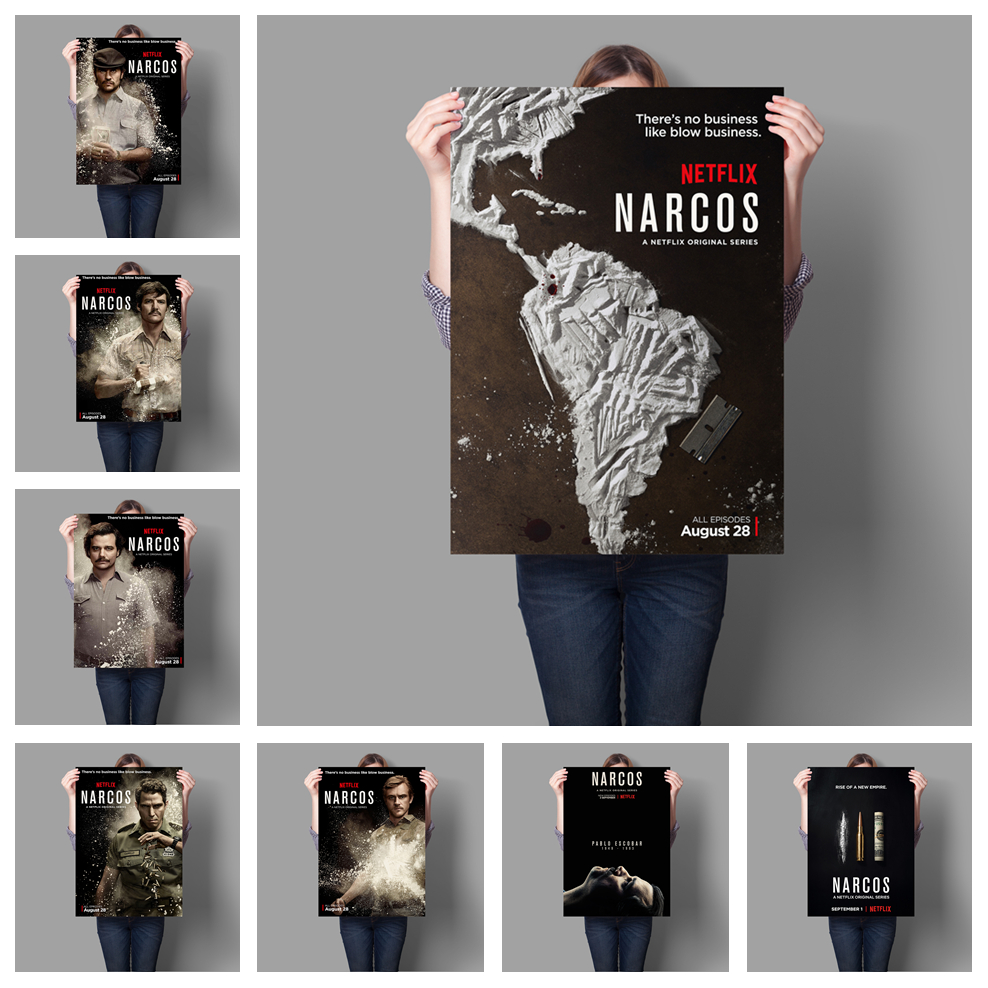 Narcos Movies American TV Poster Living Room Room Decorative Wall Art Painting Poster Art Decor Canvas Painting A502