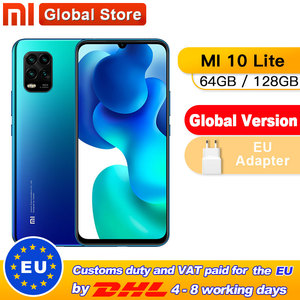Global Version Xiaomi Mi 10 Lite 5G 6GB 64GB / 6GB 128GB Mobile Phone Octa Core Snapdragon 765G 48MP AI Quad Cameras 6.57