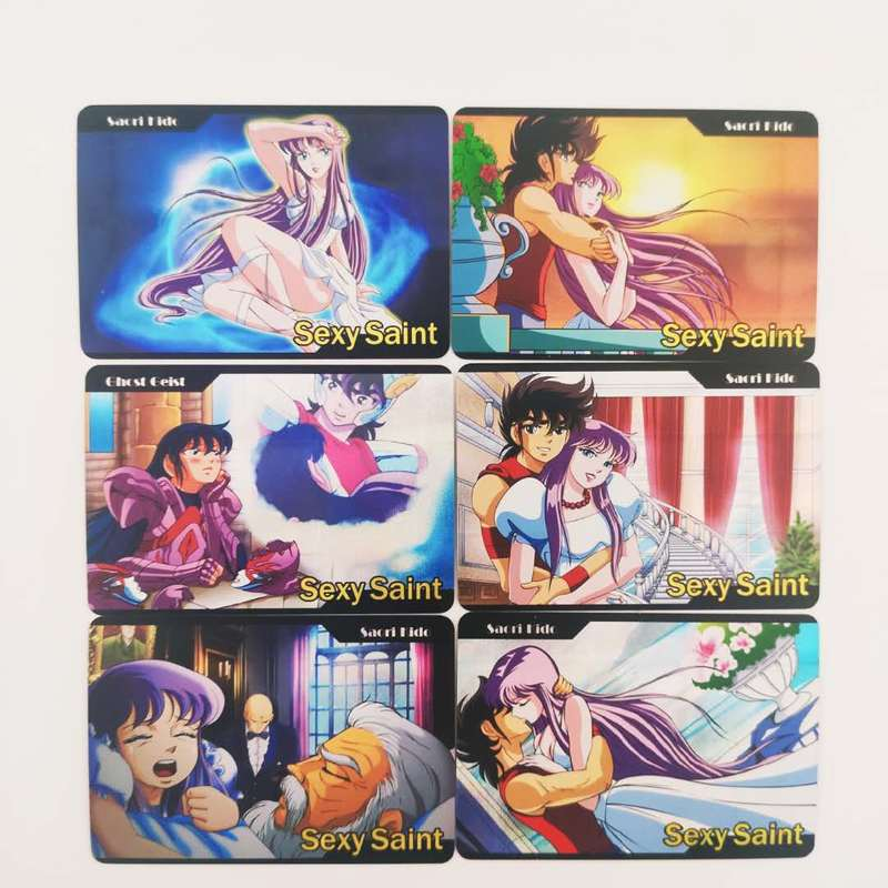 12pcs/set Sexy Saint Seiya Solid Gold Soul Sexy Girls Hobby Collectibles Game Collection Anime Cards Limit Sexy Beauty