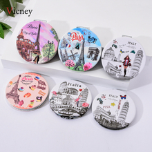 Vicney charm ladies new pocket makeup mirror fashion creative compact beauty double-sided magnifying glass
