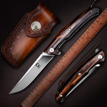 Pocket-Knife Self-Defence-Knives Ironwood-Handle Folding Outdoor Survival NEWOOTZ Bohler M390