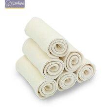 Elinfant 10 шт. 3 слоя пеньковый подгузник Вставки Многоразовые supre мягкие детские вкладыш в подгузник 35x14 см для ткань пеленки & крышки