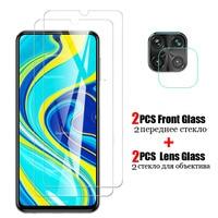 4 in 1 Für Xiaomi Redmi Hinweis 9S Glas für Xiaomi Redmi Hinweis 9 8 7 Pro 8T 8A Poco Gehärtetem Glas Screen Protector HD Film