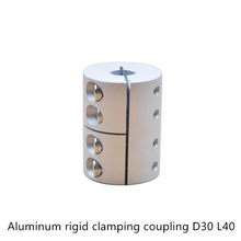 Diâmetro 30mm comprimento 40mm que aperta o alumínio rígido do acoplamento para o conector do motor do acoplador do eixo da máquina de gravura