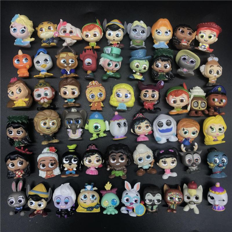 Doorables Series Princess Anna Elsa Olaf Judy Urula Aladdins Cartoon Mini Size Characters Doll Collection Model Toy Figuras