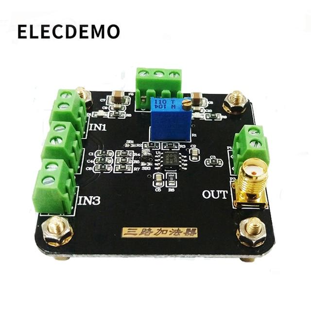 3 채널 adder 회로 모듈 연산 증폭기 모듈 단상 추가 반전 추가 이득 조정 가능한 증폭기