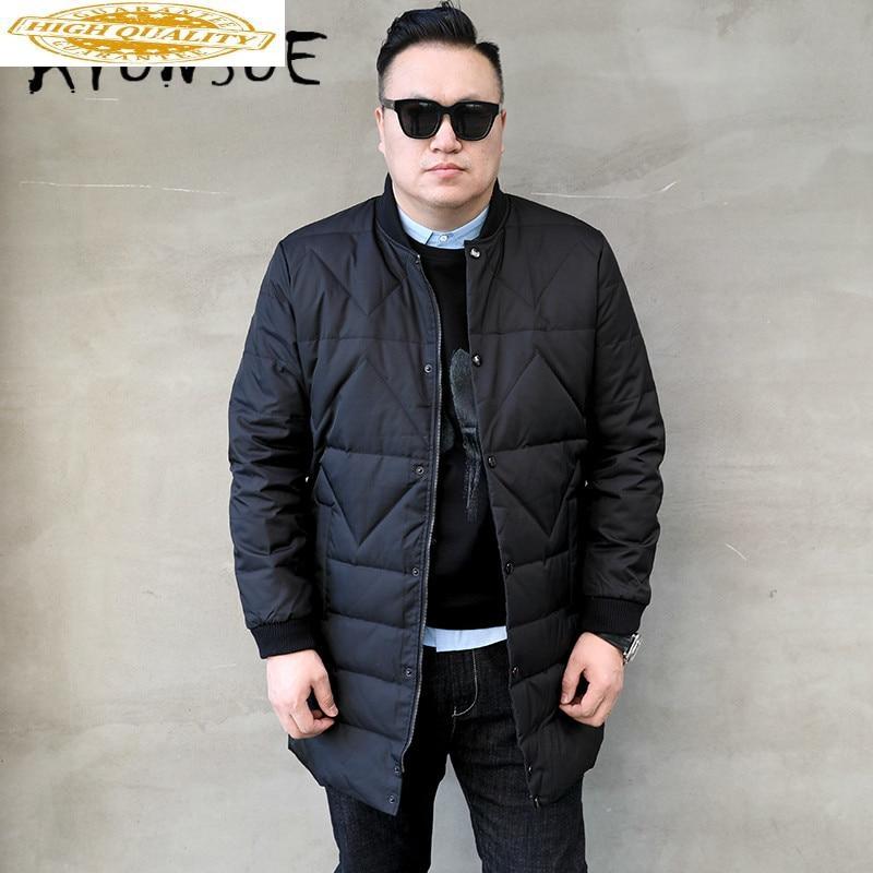 Winter Coat Men Korean White Duck Down Jacket Warm Parka Plus Size Puffer Jacket Men Down Coat Casaco 8601-1 YY1334