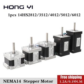 Free shipping 1pcs 4-lead Nema 14 Stepper Motor 2812 3512 4012 1.2A 0.4Ncm 35 Motor Nema14 Stepper for DIY 3D Printer CNC XYZ