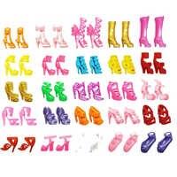 Für Original Barbie Puppen 20-40 stücke Mischen puppe haus Sandalen Für Decor Spielzeug Für Mädchen Kinder Zubehör Spielen haus Party Geschenk