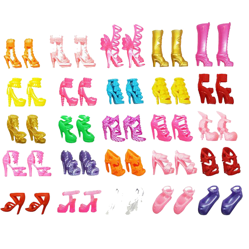 For Original Barbie Dolls 20-40pcs Mix Doll House Sandals For Decor Toys For Girls Children Accessories Play House Party Gift