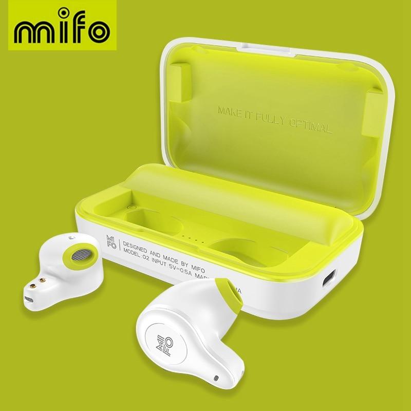 Fones de Ouvido sem Fio à Prova Esporte com Caixa Mifo Fone Bluetooth Verdadeiro Dwaterproof Água Estéreo Som Carregamento o2 5.0