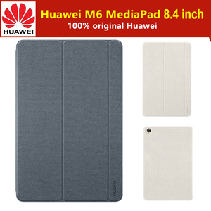 100% оригинал, HUAWEI MediaPad M6, 8,4 дюйма, чехол для планшета, кожаный флип-чехол, магнитная подставка, умный спящий режим, пробуждение, M6, 8,4 дюйма, чех...