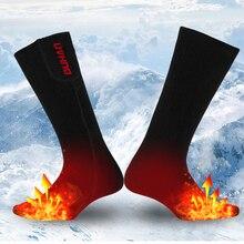 DUHAN Heating Motorcycle Socks Heated Sock Winter Foot Adjustable Warmer Electric Warming Sock Battery Power For Men Women