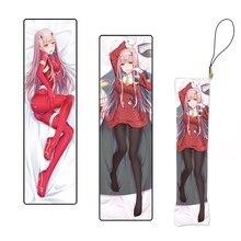 Милый брелок из японского аниме «Любимая во французском стиле», Zero Two Mini Подушка «Dakimakura», подвески на заказ, цепочка для ключей, ремешок для т...