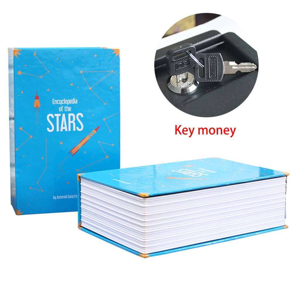 Creative Safe Deposit Box Mini Home Storage Box Safe Cabinet Craft Book Password Key Box Insurance Box