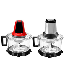 5L 2Speeds Automatic Powerful Meat Grinder Multifunctional Electric Food Processor Spice Garlic Vegetable Chopper Slicer Cutter