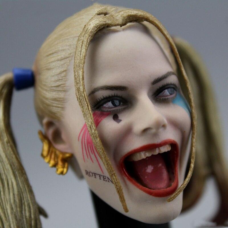 Head Sculpture Model Clown 1 /6 Scene Soldier Accessories Harley Quinn Head Sculpt Suicide Team Figures Accessory|Action & Toy Figures|   - AliExpress