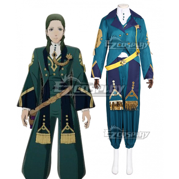 Fire Emblem: Three Houses Wind Flower Snow Moon Black Eagles Linhardt von Hevring Timeskip Ver. Outfit Game Cosplay Costume E001