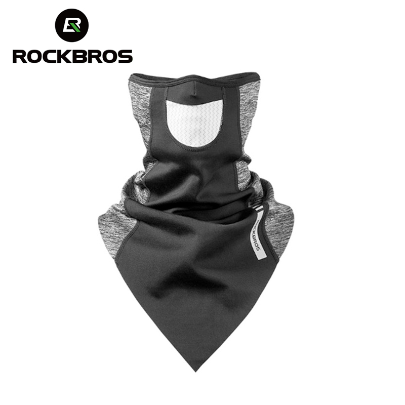 ROCKBROS Scarf Warm Fleece Thermal Breathable Cycling Running Snowboard Motorcycle Skiing Face Mask Winter Windproof Ski Mask