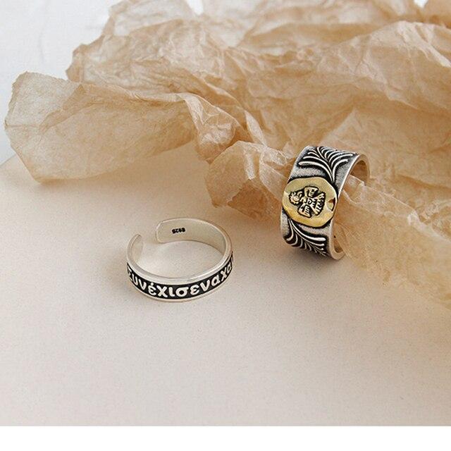 Фото kinel новинка 100% реальное искусственное серебряное кольцо