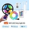 Интеллектуальная беспроводная (Wi-Fi) светодиодная лента светильник работать с Tuya / Alexa / Google Home, цветная (RGB) Ленточные светодиодные светильник...