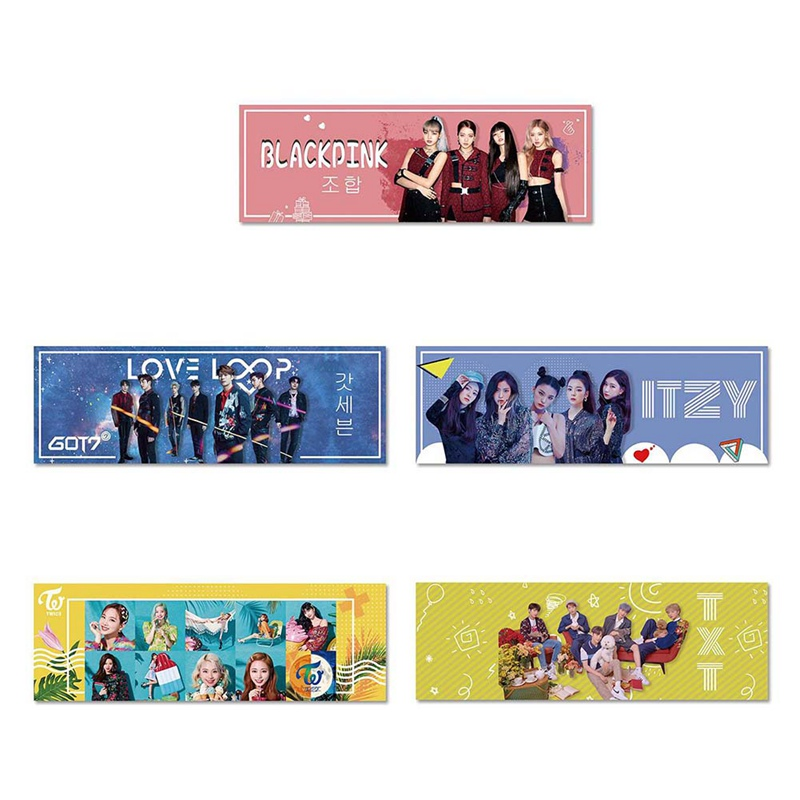 1 Piece Kpop TWICE ITZY BLACKPINK TXT Got7 Concert Support Hand Banner Fabric Hang Up Poster For Fans Collection Gift