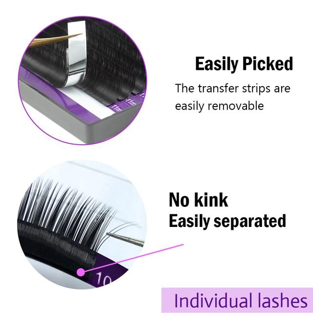 NAGARAKU 5 Cases Lot Eyelash Extension Makeup 3D Synthetic Mink Individual Eyelash16 Rows High Quality Cilios False Eyelashes 2