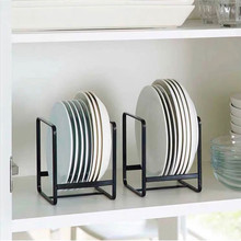 Kitchen Pantry Organizer Shelves Cabinet Dish Plate Storage Rack Dinner Plate Bowl Pot Cover Drain Rack Cutlery Drainer Stand