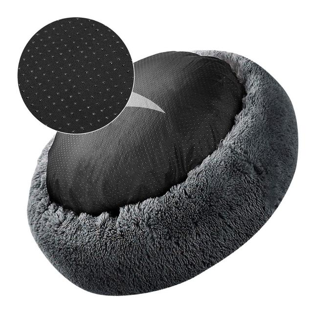 Pet Dog Bed Comfortable Donut Cuddler Round Dog Kennel Ultra Soft   3