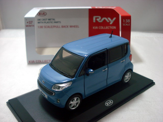 1:38 Diecast Model For KIA RAY K-car MPV Alloy Toy Car Miniature Collection Gifts
