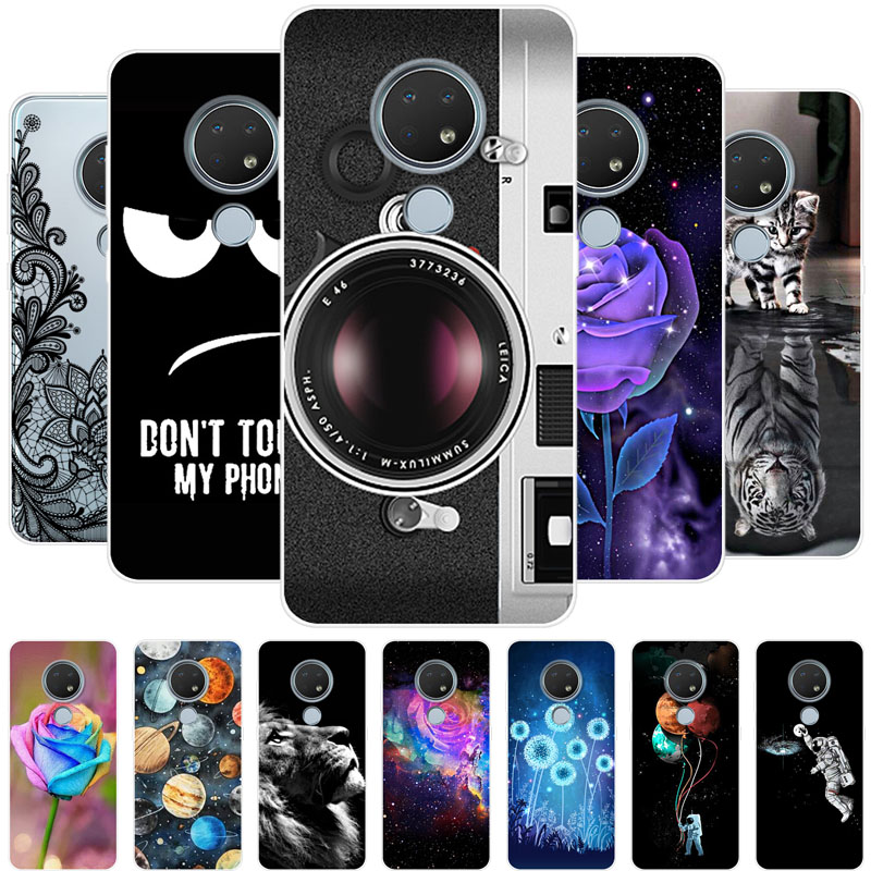 For Nokia 6.2 Case Soft TPU Silicone Cool Animals Cover For Nokia 7.2 Nokia6.2 Nokia7.2 Phone Case For Nokia 5.3 8.3 Cover Capas