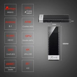 Image 2 - テレビスティックのandroid 9.0 tvボックスX96Sテレビスティックamlogic S905Y2 DDR4 4ギガバイト32ギガバイトX96ミニpc 5 3g wifi H.265 bluetooth 4.2テレビメディアプレーヤー