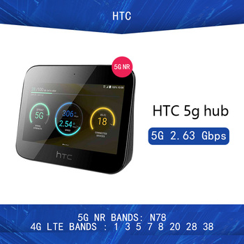 Unlocked  HTC 5G Hub Android tm9Pie wifi802.11ad 7660mAh battery 5g n78 2.63gbps  4G Lte Bands1 3 5 7 8 20 28 38