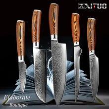 Японский кухонный нож xituo vg10 из высокоуглеродистой нержавеющей