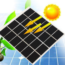 Monocrystalline Silicon Solar Panel Module Phone Charger Durable Solar Cells Mini 120*110mm Environmental Toys Part(China)