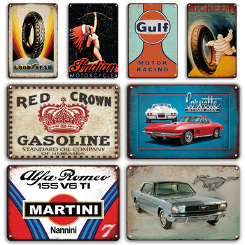 Martini Metal Plaque Tin Sign Vintage Garage Man Cave Wall Stickers Gulf Metal Poster Decorative Signs Retro Home Bar Room Decor dad s barbecue decorative signs beer bbq plaque metal vintage wall bar home art retro restaurant decor 30x20cm du 6034a