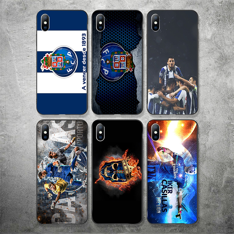 Yinuoda Phone Case For FC Porto IPhone Shell DIY Picture Black Soft TPU Cover For Porto FC X XR XS MAX 7 8 7plus 6 6S 5S 5