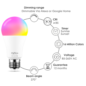 Image 4 - E27 Smart Light Bulb 15W WiFi LED Lamp Color Changing Magic Bulb Wake Up Lights Compatible with Alexa Google Assistant Dropship