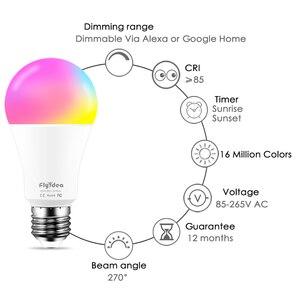 Image 4 - E27 ampoule intelligente 15W WiFi lampe LED changement de couleur ampoule magique lumières de réveil compatibles avec Alexa Google Assistant livraison directe