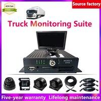 HYFMDVR 4 channel + 3 inch side mounted waterproof camera Mobile DVR Sets truck