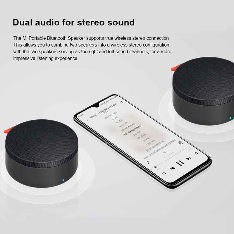 Xiaomi Mi Draagbare Bluetooth Speaker IP67 Stofdicht Waterdicht Dual Interconnectie Stereo Bass Mini Speaker Bulit 2000Mah 6