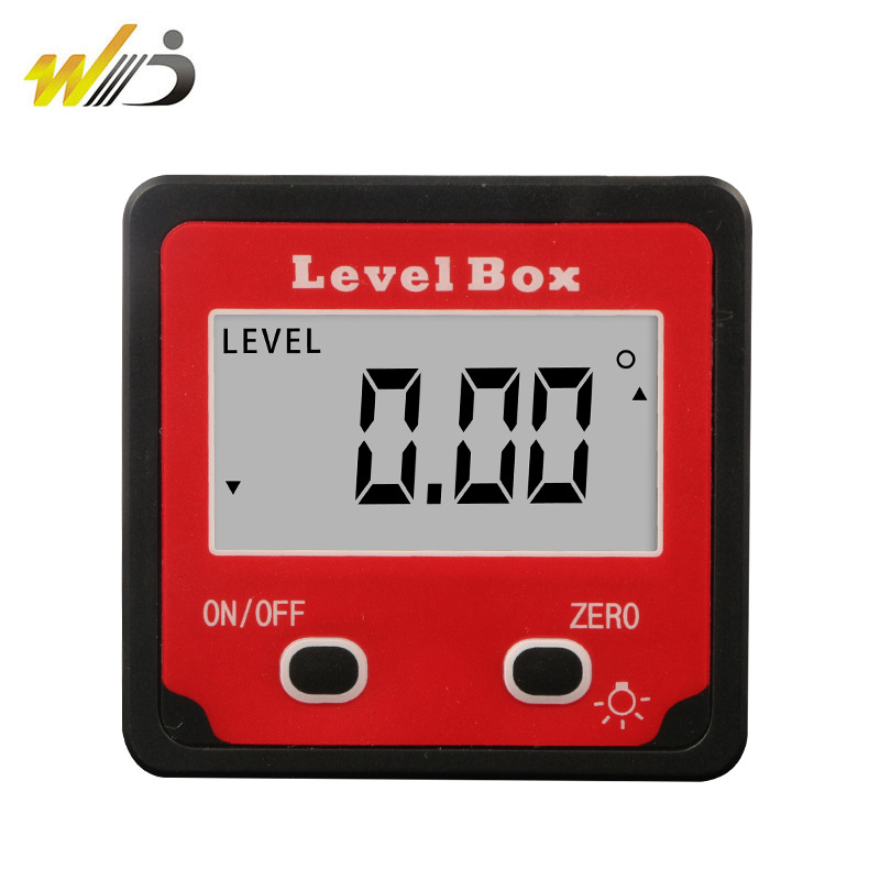 Wei Degrees Digital Bevel Box Electronic Angle Ruler Magnetic Angle Instrument Diagonal Metric Level High Precision Inclinometer
