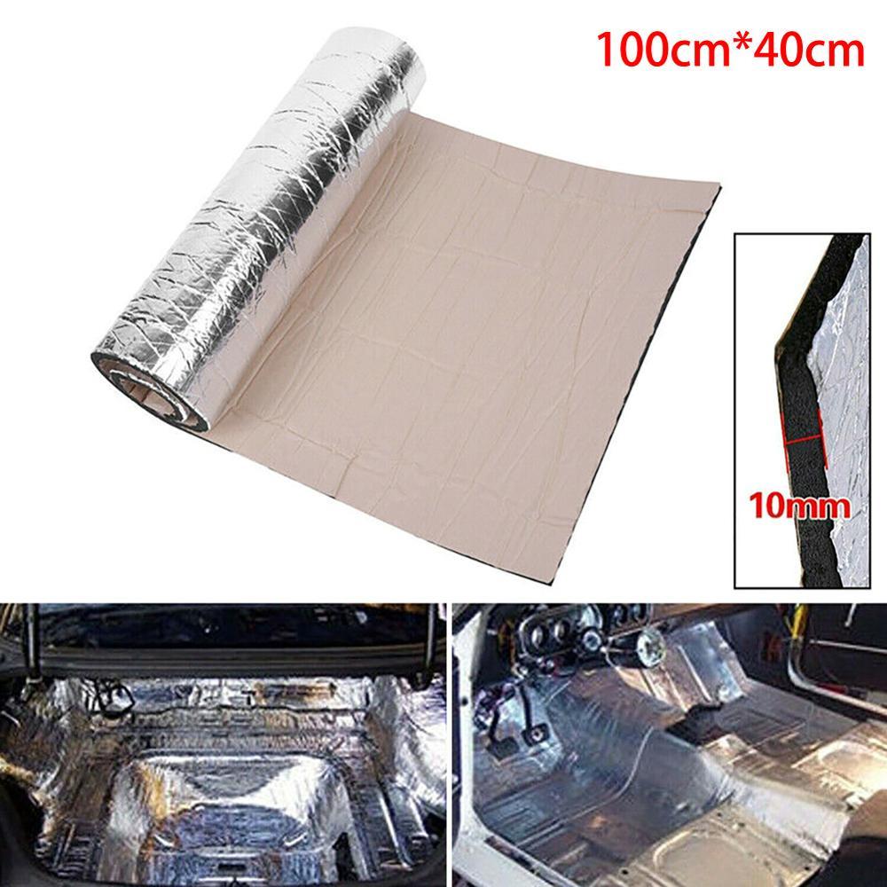 10mm Car Truck Firewall Heat Sound Deadener Insulation Mat Noise Insulation Wool Car Heat Sound Thermal Proofing Pad 40*100cm