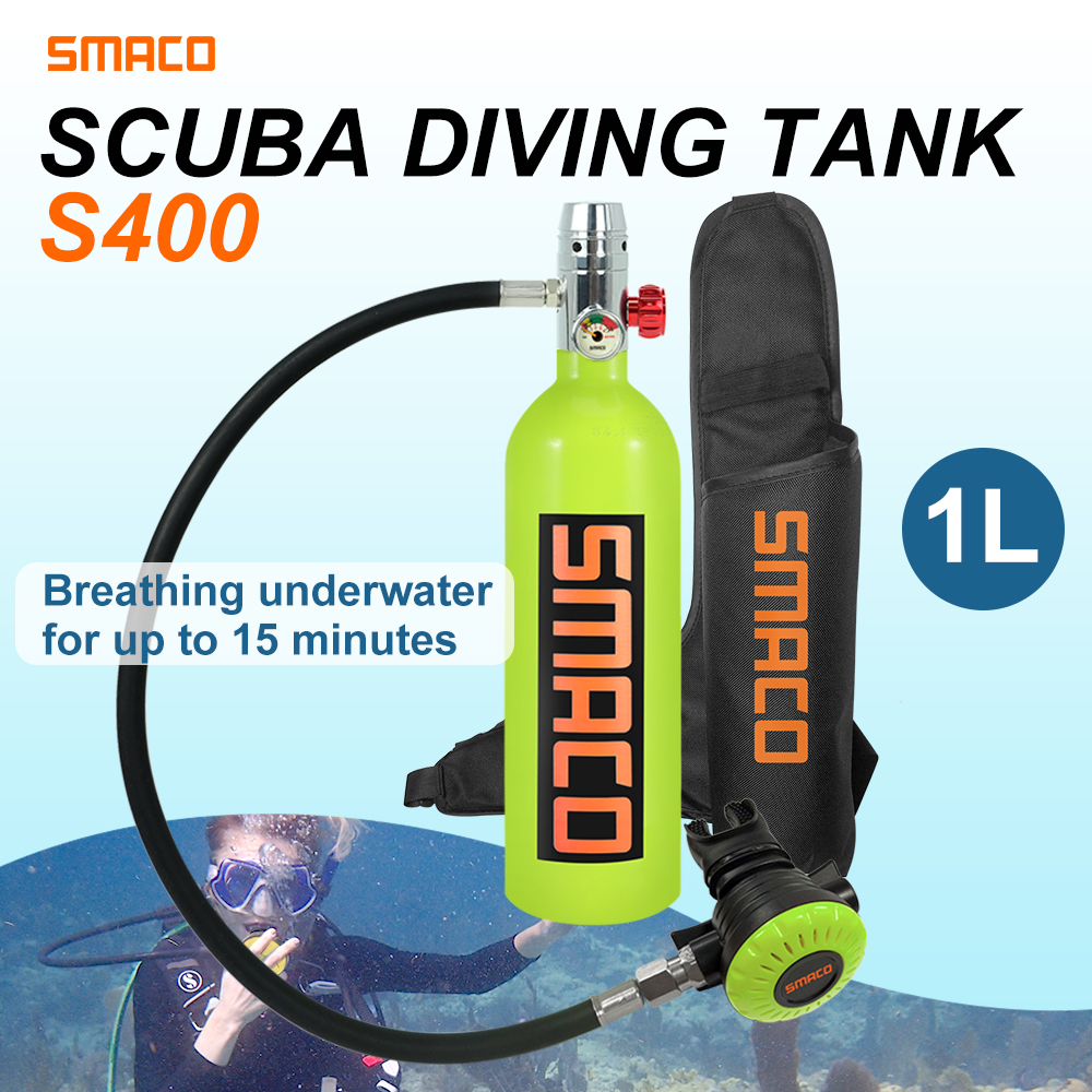 SMACO 1L équipement de plongée Mini cylindre de plongée sous-marine S400 buceo plongée sous-marine oxygène réservoir d'air respiration sous-marine 15 minutes