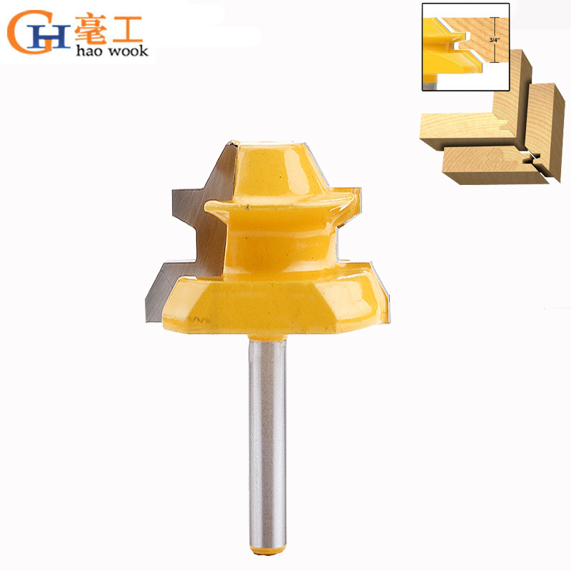"""Router Bit Woodworking Milling Cutter 1//4/"""" Shank Lock Miter CNC Trim Rotary Tool"""