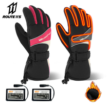 Motorcycle Gloves Battery Powered Winter Moto Electric Heated Gloves Waterproof Keep Warm Motorbike Riding Racing Heating Glove savior motorcycle heating gloves riding racing biking winter sports electric rechargeable battery heated warm gloves cycling