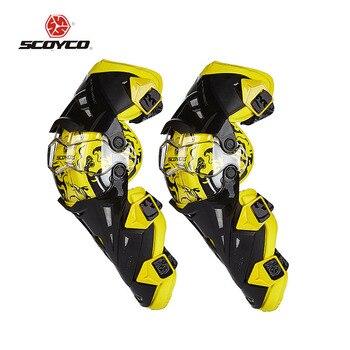 Protector de motocross amarillo scoyco k12, nuevo modelo de seguridad para deportes al aire libre/moto rodilleras de motocicleta equipo de protección
