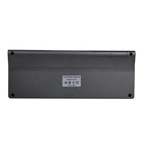 Image 2 - Zienstar bezprzewodowa Mini klawiatura z touchpadem i Numpad na komputerze z systemem Windows, Laptop, Ios pad, Smart TV, HTPC IPTV, android box